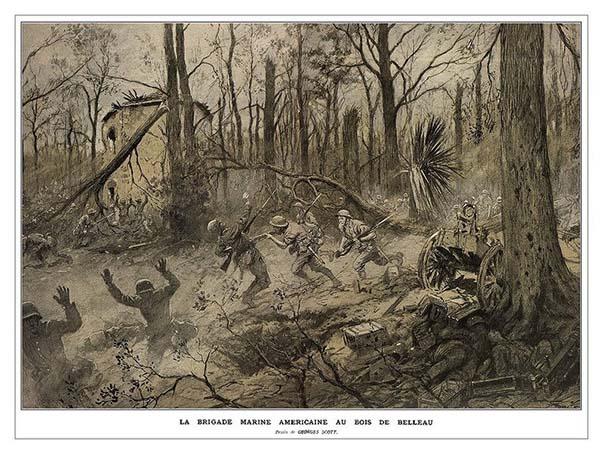 La brigade marine américaine au bois Belleau