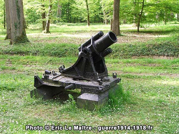 Minenwerfer moyen de 17.5 cm rayé du bois Belleau
