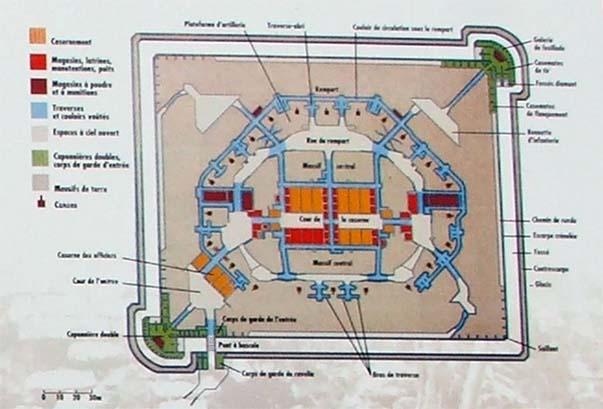 Plan du fort de la Malmaison