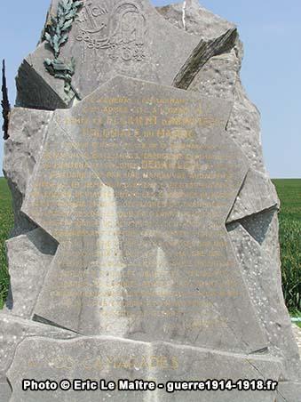 La plaque commémorative du monument du RICM