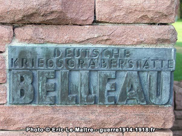 Plaque Deutsche kriegsgraberstatte Belleau 1914-1918