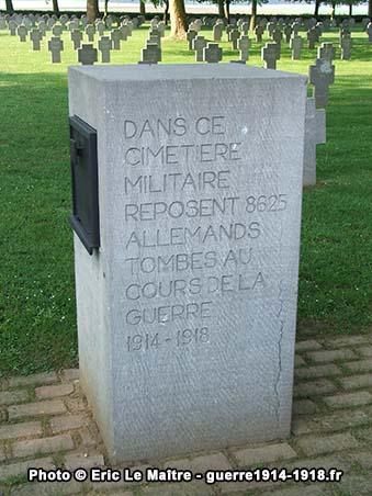 Cimetière militaire allemand à Belleau