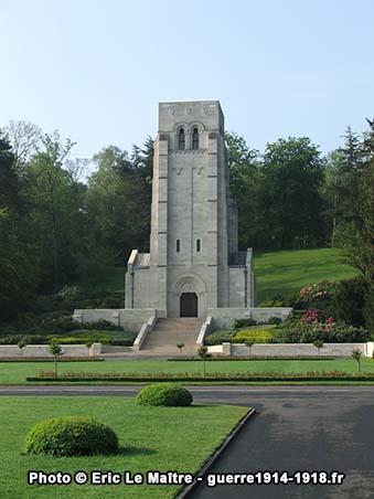 La Chapelle du cimetière américaine Aisne-Marne à Belleau