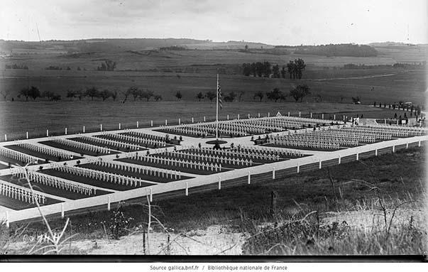 Le cimetière américain du bois Belleau en 1920