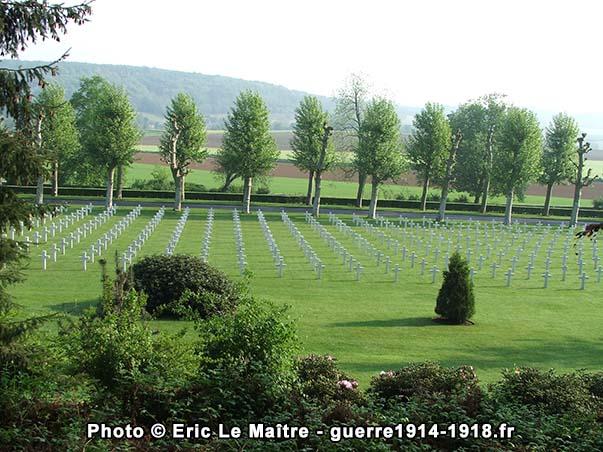 Première vue du cimetière américain Aisne-Marne