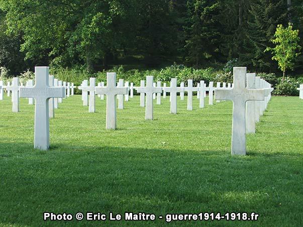 Seconde vue du cimetière américain Aisne-Marne à Belleau