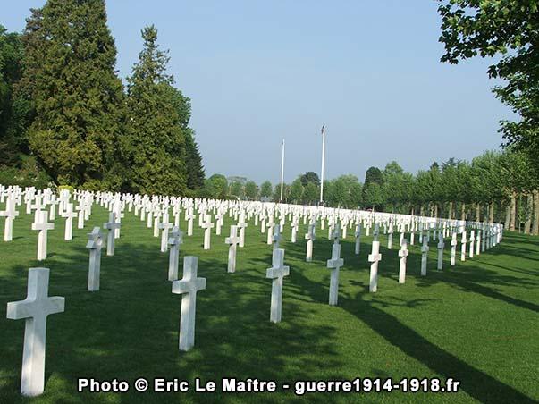 Troisième vue du cimetière américain Aisne-Marne à Belleau