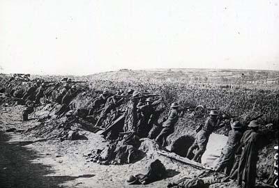 Soldats américains en position à la cote 204 près de Château-Thierry