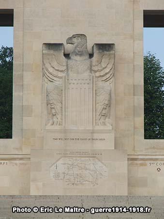L'aigle des USA du monument de la cote 204