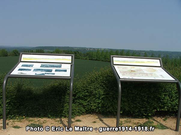 Panorama depuis la butte artificielle de la Royère à Filain