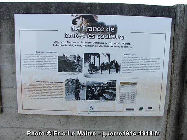 La France de toutes les couleurs - Panneau touristique de la Royère à Filain