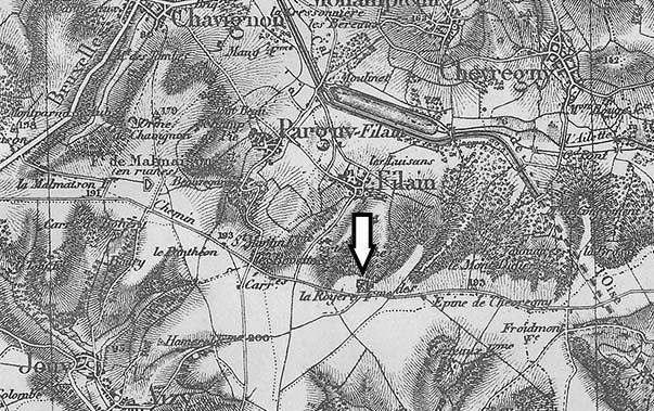 Carte du secteur de La Royère en 1912