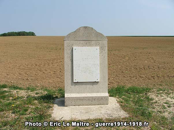 Vue de face du Monument de la 38ème division d'infanterie