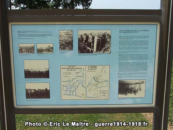 Panneau d'information de la nécropole nationale de Cerny-en-Laonnois