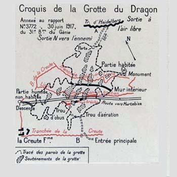 Croquis de la Grotte du Dragon