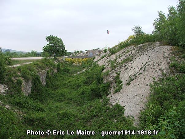 Les fossés du fort de la Pompelle