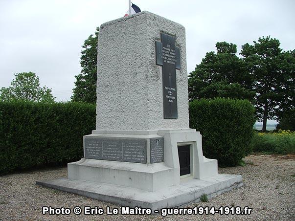 Monument-ossuaire de la ferme d'Alger, côté Ouest