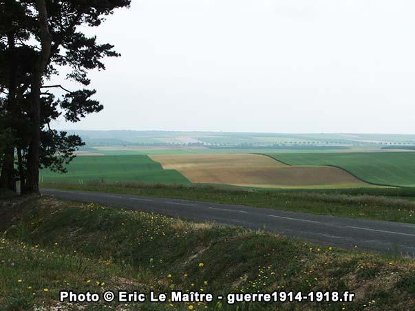 Vue panoramique depuis le site du monument américain de Sommepy