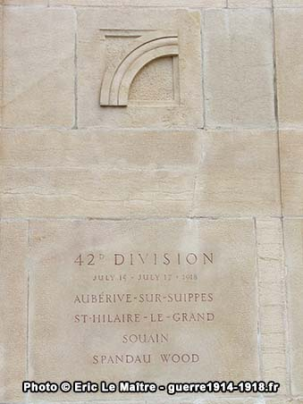 42ème division américaine, monument américain de Sommepy