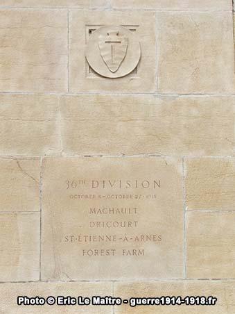 36ème division américaine, monument américain de Sommepy