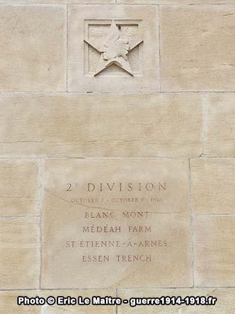 2ème division américaine, monument américain de Sommepy