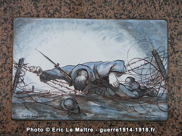 Céramique d'après l'oeuvre de l'artiste peintre André Lagrange