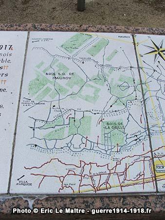 Première partie de la carte de l'offensive du 17 avril 1917