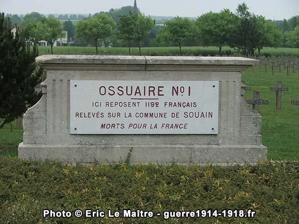 Ossuaire n°1 de la nécropole de Souain-la-Crouée