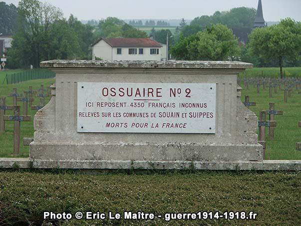 Ossuaire n°2 de la nécropole de Souain-la-Crouée