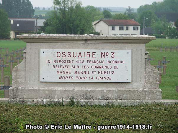 Ossuaire n°3 de la nécropole de Souain-la-Crouée