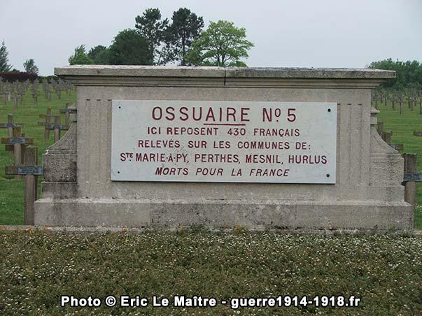 Ossuaire n°5 de la nécropole de Souain-la-Crouée