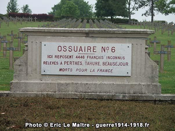 Ossuaire n°6 de la nécropole de Souain-la-Crouée