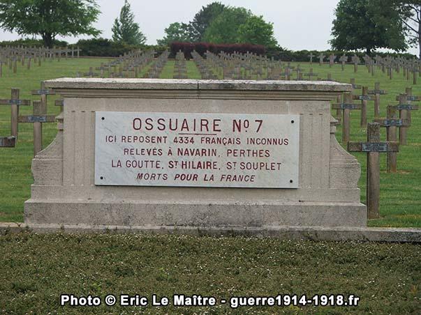 Ossuaire n°7 de la nécropole de Souain-la-Crouée