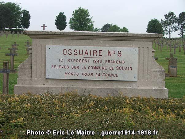 Ossuaire n°8 de la nécropole de Souain-la-Crouée