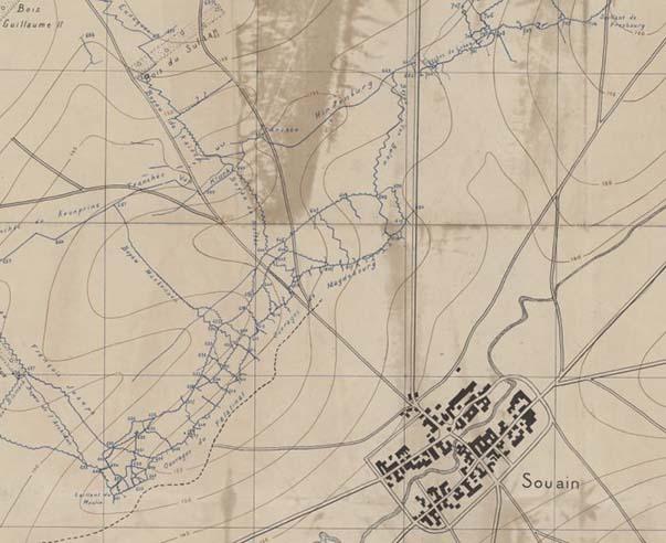Les environs de Souain pendant la Grande Guerre