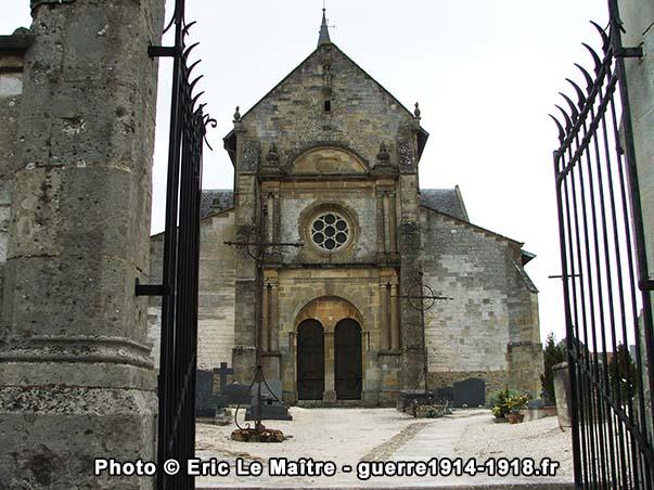 L'église de Sommepy-Tahure porte toujours les stigmates de la Grande Guerre