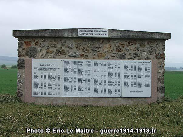 Ossuaire n°2 de la nécropole nationale de Sillery