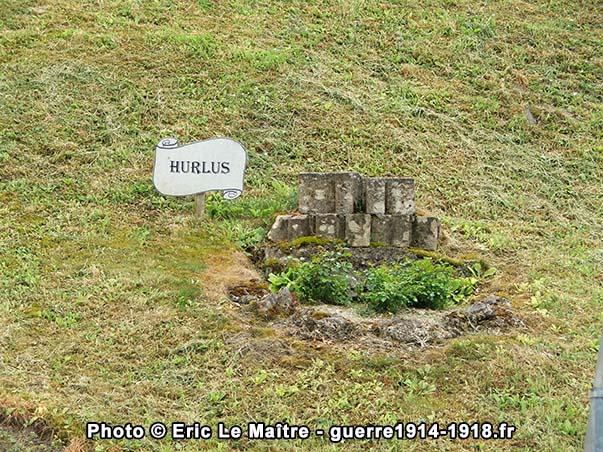 Vestige de l'église de Hurlus à Sommepy-Tahure