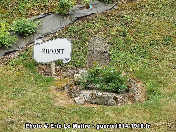 Vestige de l'église de Ripont à Sommepy-Tahure