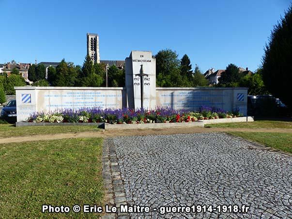 Le mémorial de la 3ème Division américaine à Château-Thierry vu de face