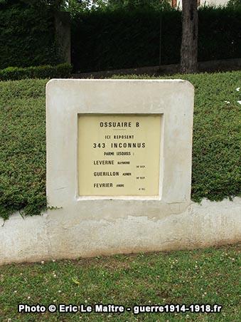 Ossuaire A de la nécropole nationale militaire des Chesneaux à Château-Thierry