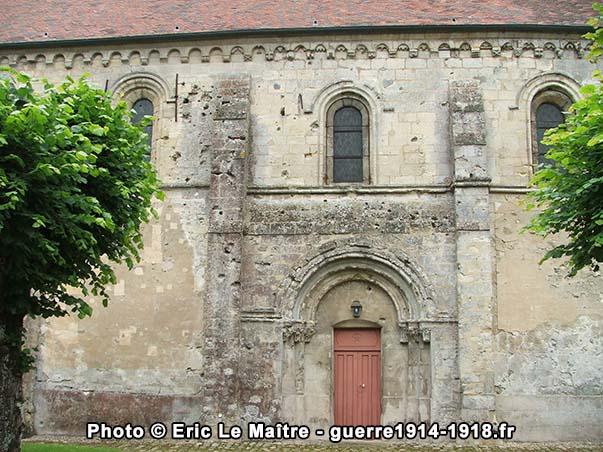 Etat actuel de la façade nord de l'église de May-en-Multien