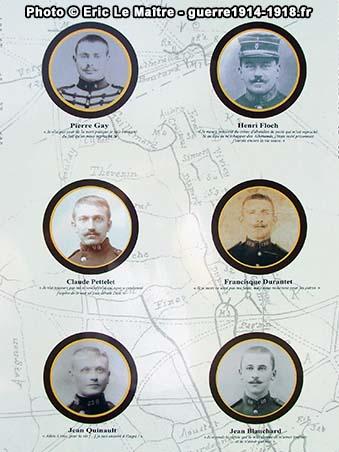 Portraits des six fusillés de Vingré