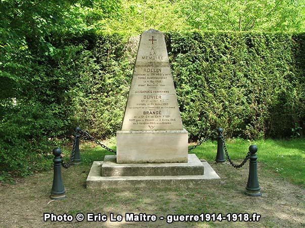 Le monument à la mémoire des Gardes Forestiers de la forêt de Compiègne
