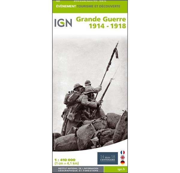 Carte IGN - Grande Guerre 1914 - 1918
