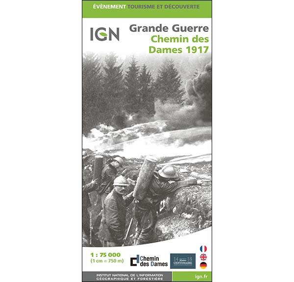 Carte IGN - Grande Guerre - Chemin des Dames 1917