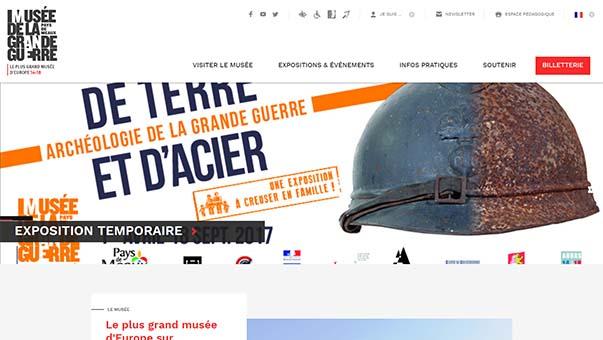 Visitez le site Internet du plan grand musée 14-18 d'Europe