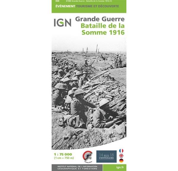 Carte IGN Grande Guerre bataille de la Somme 1916