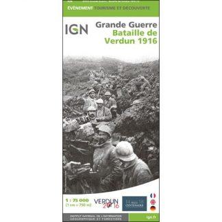 Carte IGN Grande Guerre bataille de Verdun 1916