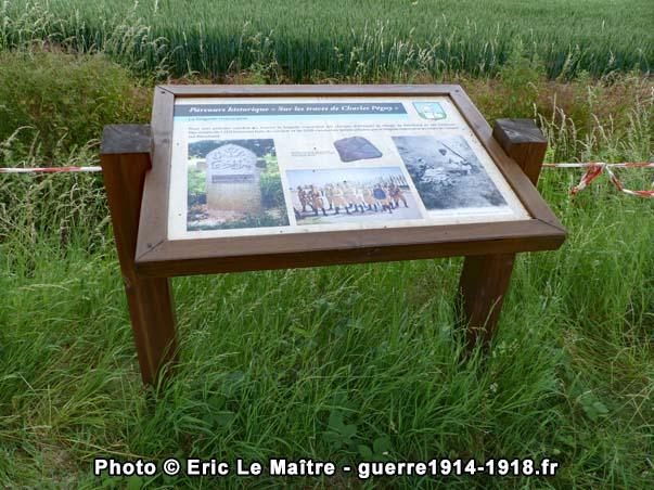 """Pupitre historique n°4 """"sur les traces de Charles Péguy"""" en mémoire de la brigade marocaine"""